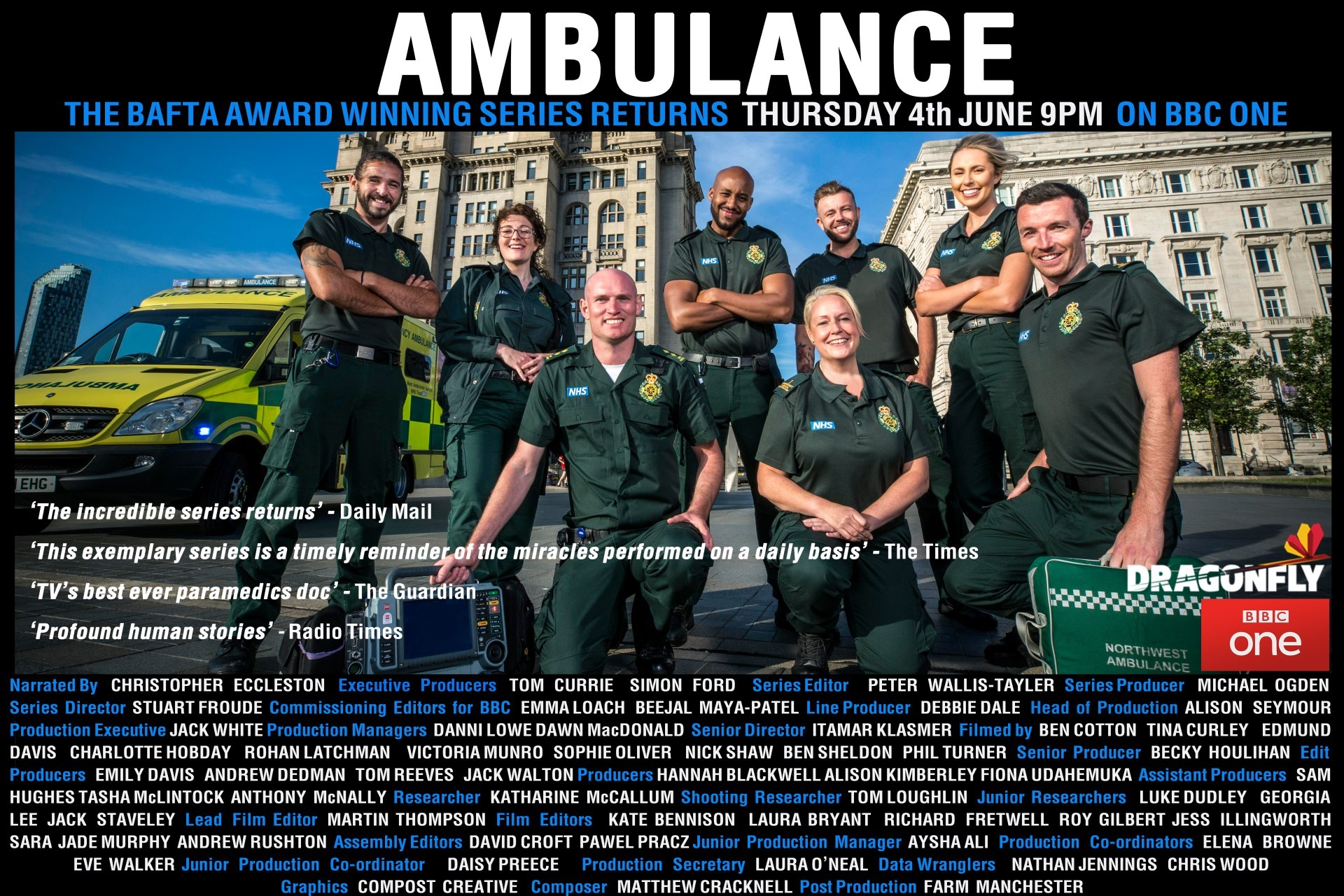 Ambulance - Series 5 / Liverpool. BBC1 - 59mins